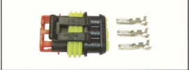 CONNECTEUR MALE 3 VOIES CR BOSCH CS1010